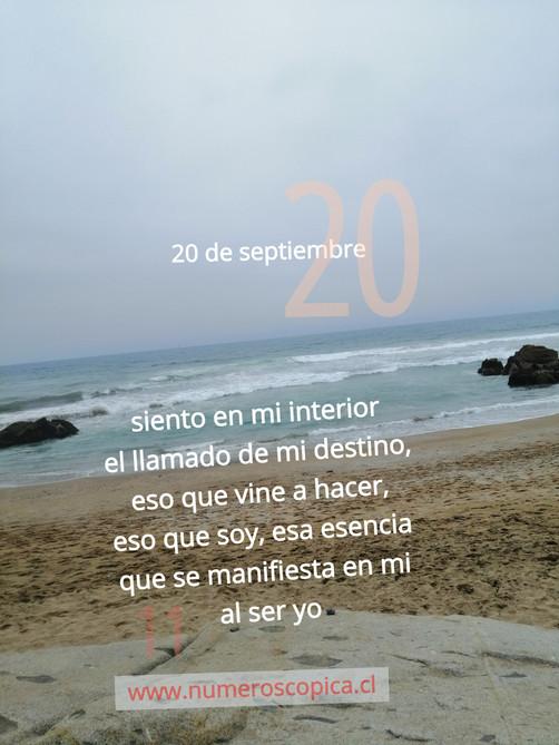 lunes 20 de septiembre