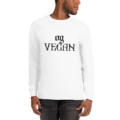 Men's Long Sleeve Shirt OGVegan Drk Logo