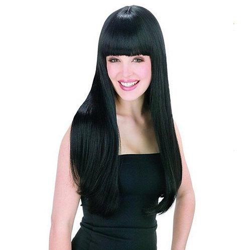 AGPtek New style black Fashion Long straight women's Girl full Hair Wig