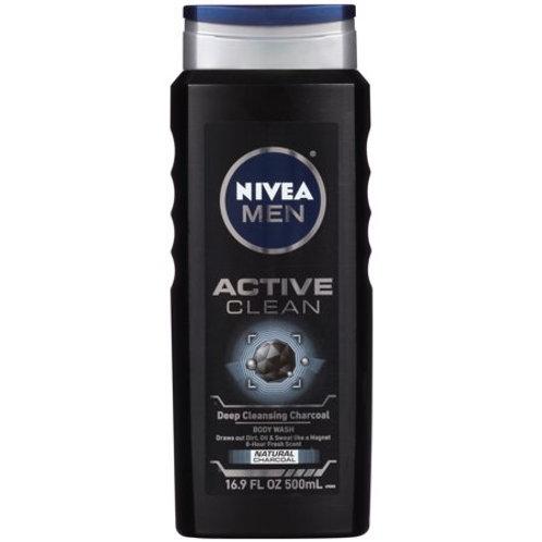 NIVEA Men Active Clean Body Wash 16.9 fl. oz.