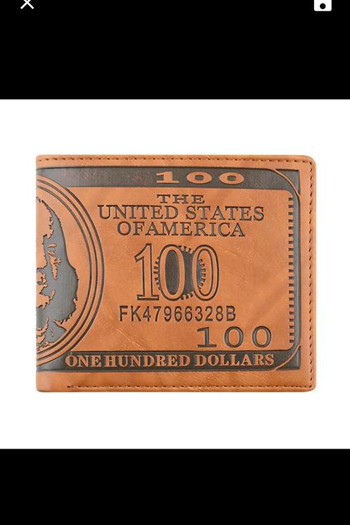 100 Dollar Bill Luxury Money Wallet