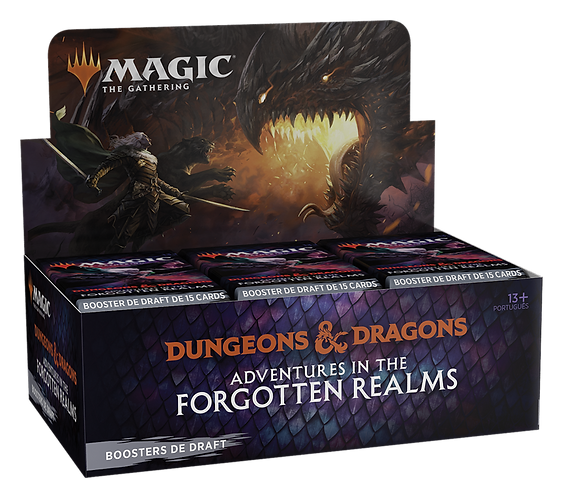 MTG Adventures in the Forgotten Realms Draft Booster Box Portugues