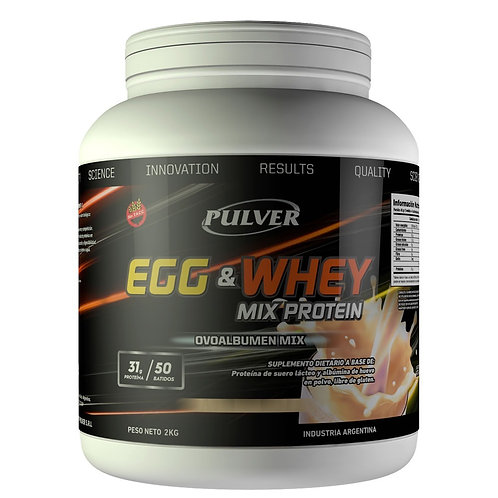 Egg & Whey Mix Protein 2 kgs - Vainilla o Chocolate
