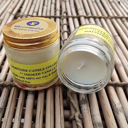 SMOKED VANILLA SOY CANDLE (150 gms jar)