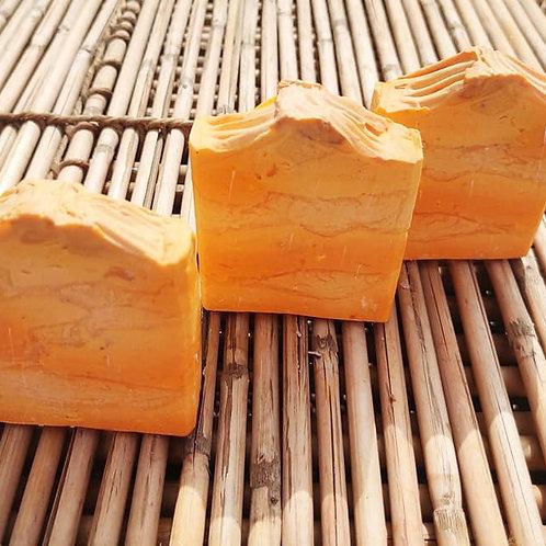 Sunset themed Orange Candy soap