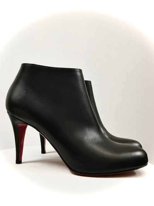 LouBoutin black booties with red sole size 8.5