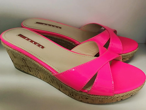 Pink Prada wedges size 6