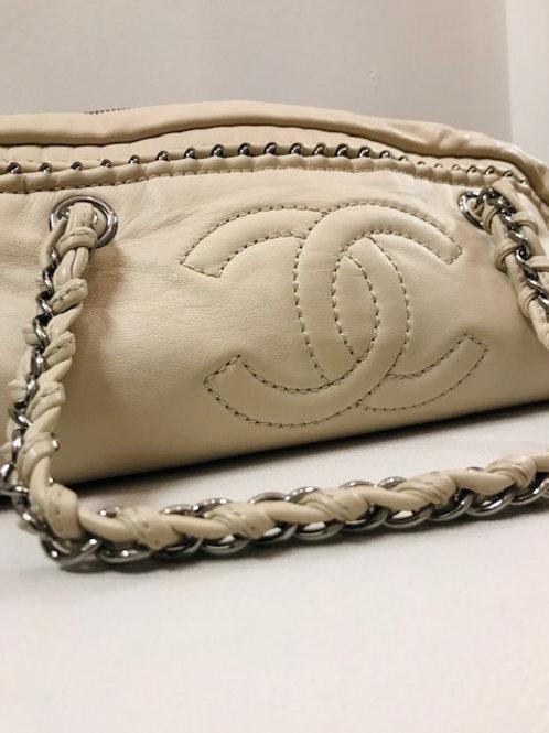 Chanel white purse