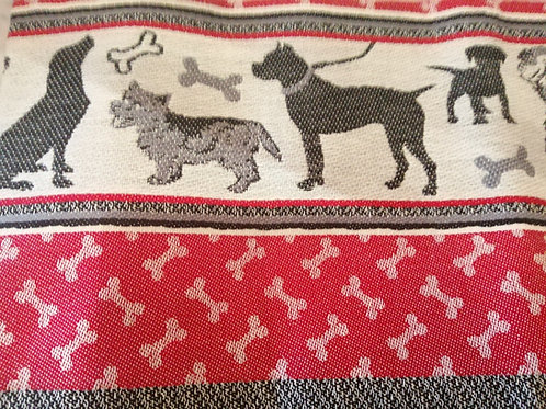 Bunzlau Castle Theedoek Hond rood