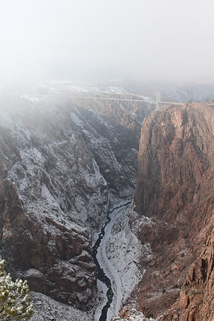 Arkansas River running through the Royal Gorge in the winter