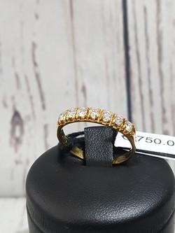 Anello Riviera 7 diamanti