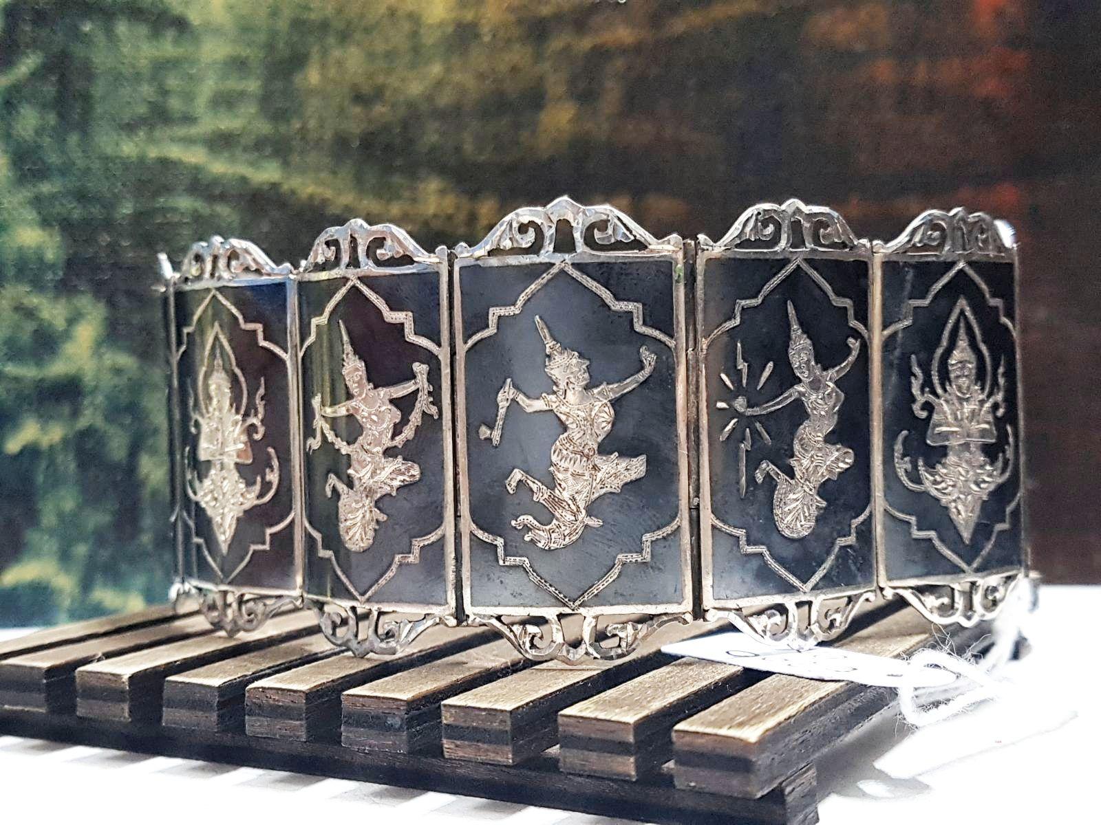 bracciale argento tailandese etnico