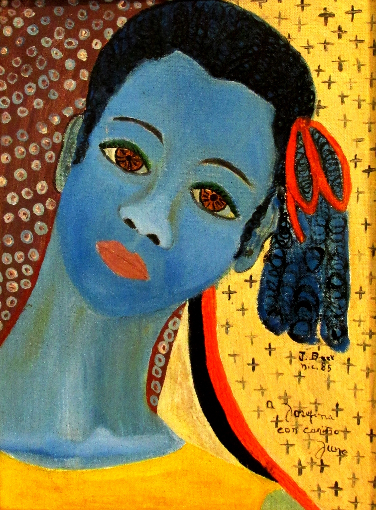 Mujer Rostro Azul