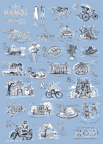 hanoi a to z print - large
