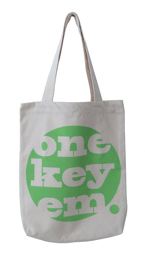 one key em canvas tote