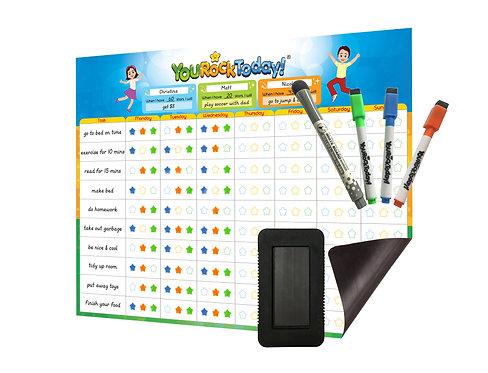 Magnetic Behavior/Star/Reward Chore Chart, One or Multiple Kids, Toddlers, Teens