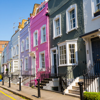 Victorian terraced houses, Chelsea, Lond