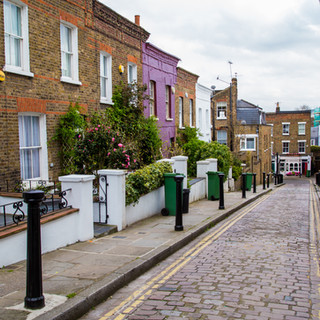 London street of typical small 19th cent