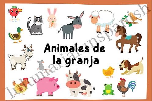 Farm Animals - Animales de la Granja - Flashcards