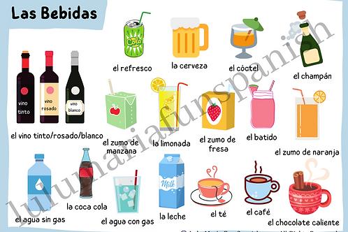 Drinks - Las Bebidas - Poster