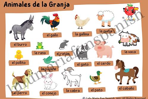 Farm Animals - Animales de la Granja - Package