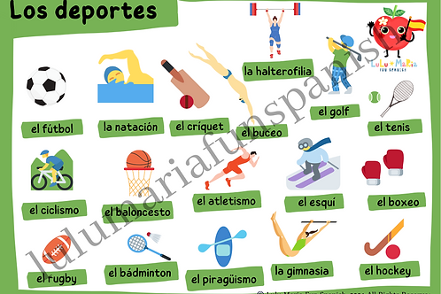 Sports - Los Deportes - Poster