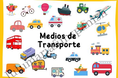 Transport - Medios De Transporte - Flashcards