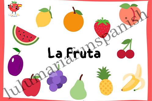 The Fruits - La Fruta - Flashcards