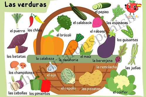 The Vegetables - Las Verduras - Poster