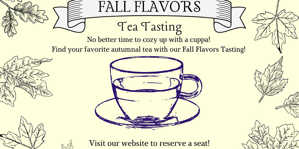 Fall Flavors Tasting