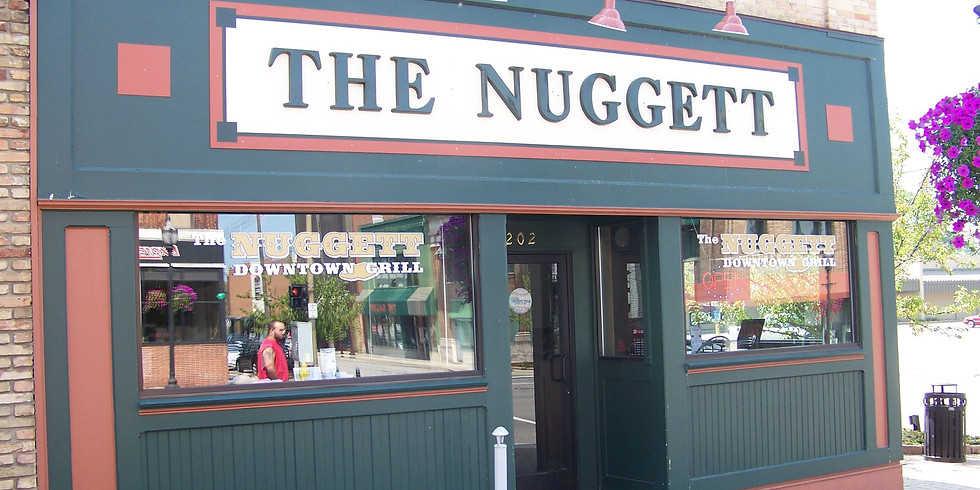 The Nuggett Downtown Grill is OPEN for carry out, curbside, or delivery (within walking distance)