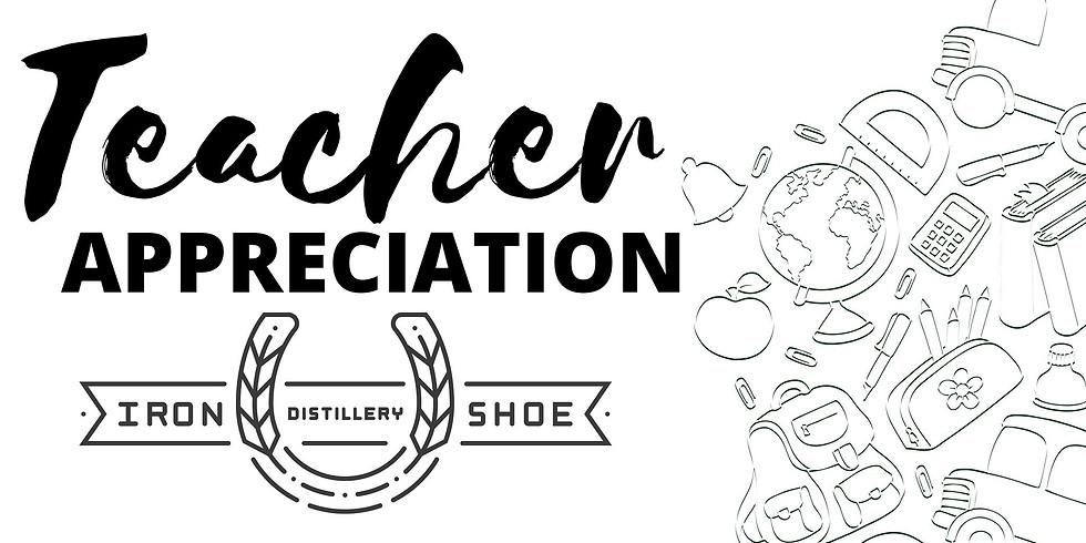 Iron Shoe Distillery Teacher Appreciation Night