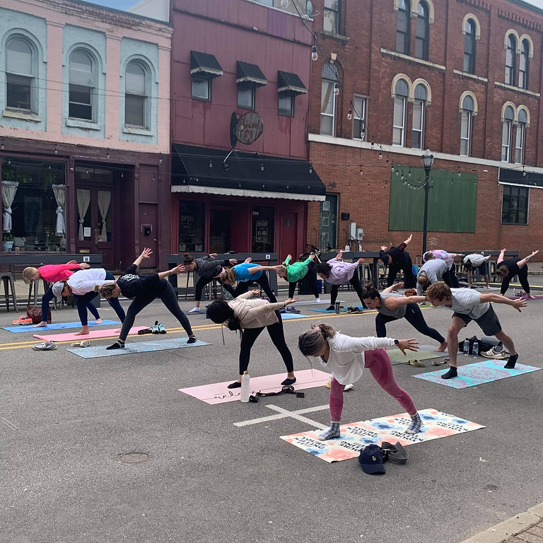 Yoga & Mimosa's by Wrapped In Light & Niles Brewing Co.