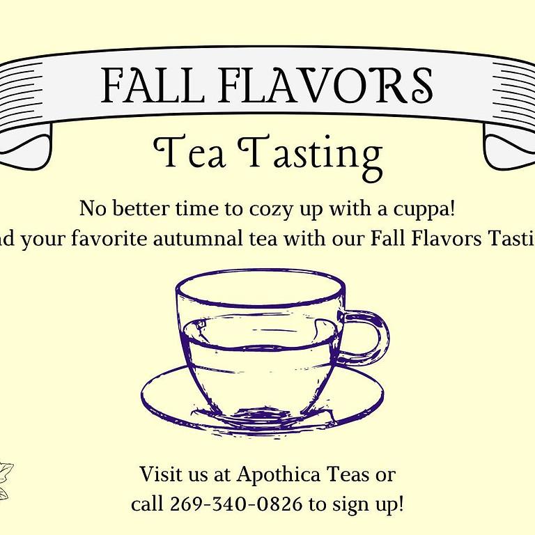 Fall Flavors Tea Tasting