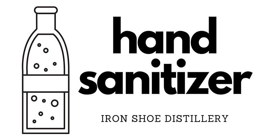 Iron Shoe Distillery is offering free hand sanitizer