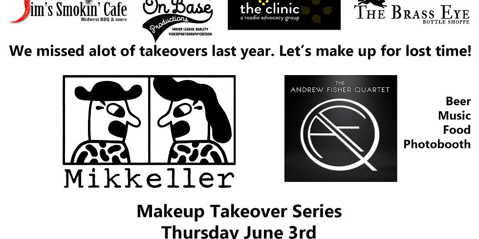 Brass Eye Tap Takeover w/ Mikkeller Brewery, live music by Andrew Fisher Quartet