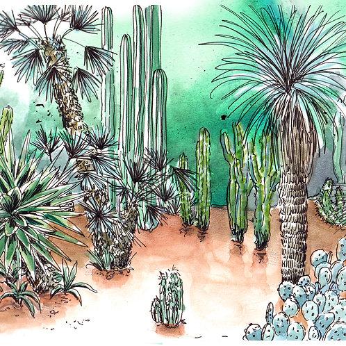 Carte Jardin Majorelle Marrakech