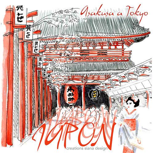 Carte Asakusa Japon