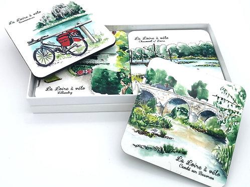 Sous verres Loire à vélo