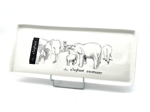 Plateau de porcelaine éléphant