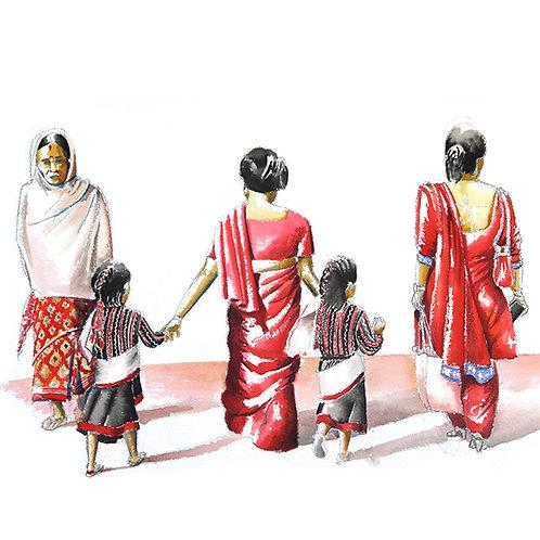 Carte postale peuple népalais