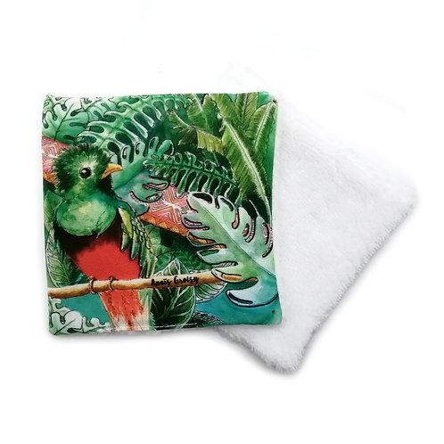 Lingette réutilisable -Quetzal
