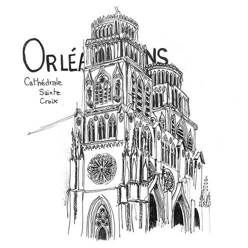Carte postale cathédrale Orléans
