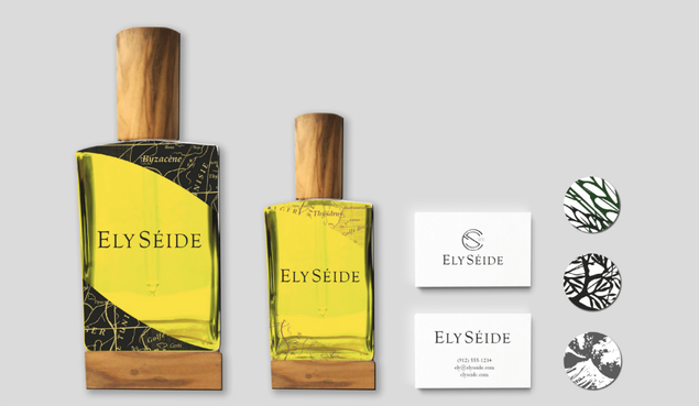 Création d'identité visuelle et packaging pour la marque d'huile d'olives Ely Séide.
