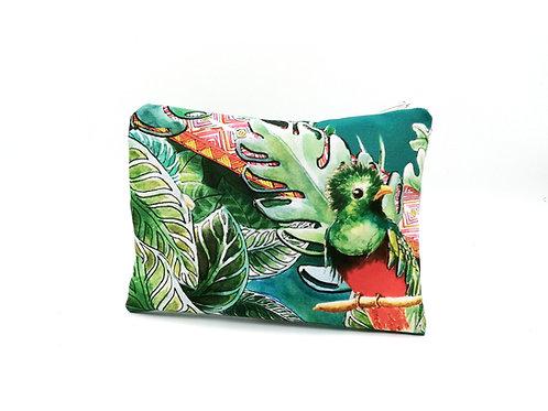 Pochette imprimée tropical