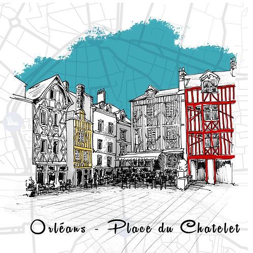 Carte Place du Châtelet Orléans