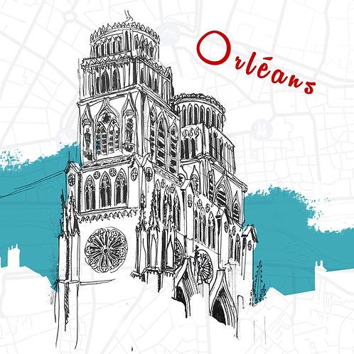 Carte Cathédrale d'Orléans