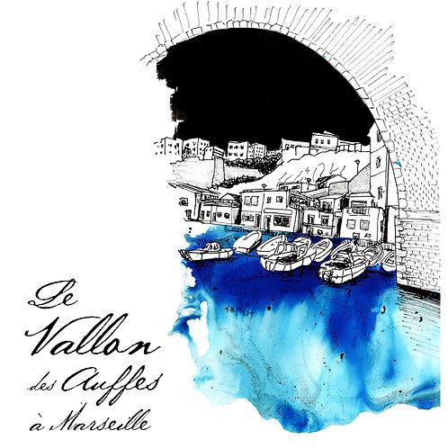 Carte Vallon des Auffes Marseille