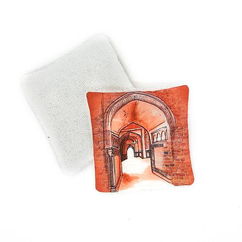 Lingette réutilisable - Porte orange Inde
