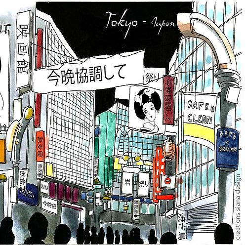 Carte Tokyo Japon